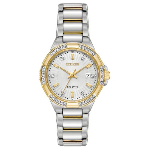 Riva EW2464-55A Citizen Ladies Watch Two Tone Stainless Steel Eco-Drive